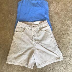 Tan Corduroy Vintage Shorts